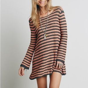 Free People Counting Stripes Tunic Sweater Dress